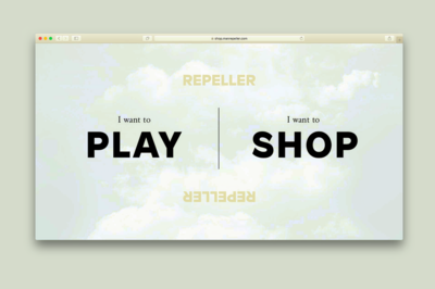 Man Repeller launched a gamified e-commerce site where users dictate the shopping experience – Shop or Play. Web design by Studio Scissor