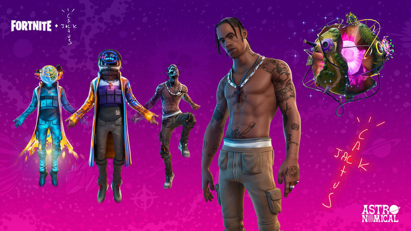 'Astronomical' by Travis Scott debuted on Fortnite