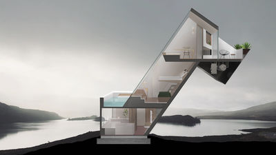 Diagonal Dwelling by Nicos Yiatros and NYDE